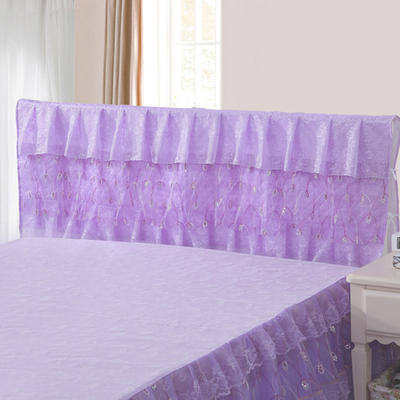 2019新款新款蕾丝床头罩系列-流光溢彩 120*50cm 紫色