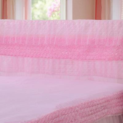 2019新款新款蕾丝床头罩系列-玫瑰公主 120*50cm 粉色