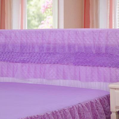 2019新款新款蕾丝床头罩系列-玫瑰公主 120*50cm 紫色