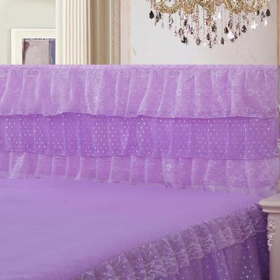 2019新款新款蕾丝床头罩系列-时尚波点 120*50cm 紫色