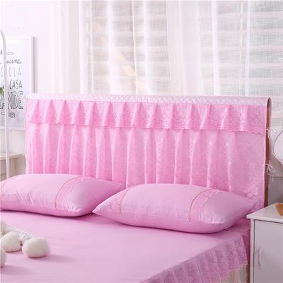 2019新款新款蕾丝床头罩系列-月满花香 150*50cm 粉色
