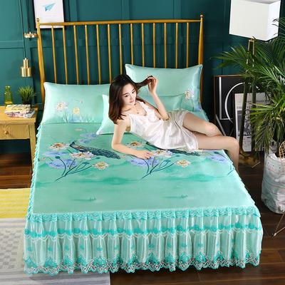 2019新款单床头罩 150*50cm 孔雀花-蓝