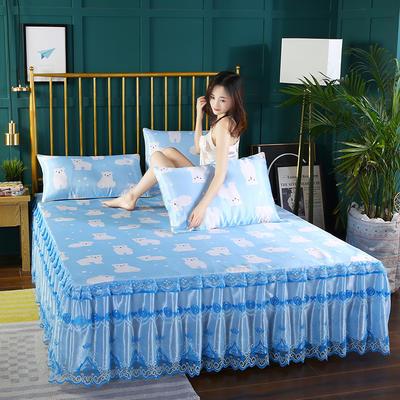 2019新款单床头罩 150*50cm 快乐小熊-清新兰