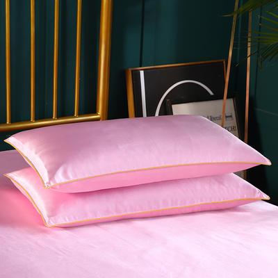 2019新款冰丝单品枕套 48cmX74cm 粉色