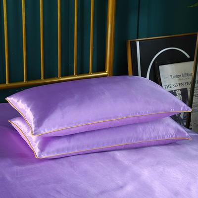 2019新款冰丝单品枕套 48cmX74cm 紫色