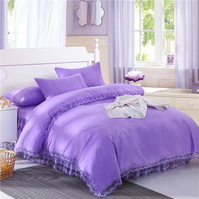 2019新款被套(蕾丝床裙通用) 200X230cm 紫色