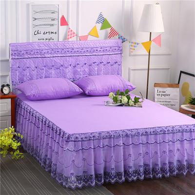 2019新款蕾丝床裙(典雅) 150*200+45cm三件套 典雅(紫色)