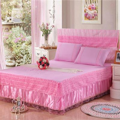 2019新款蕾丝床裙(玫瑰公主) 120*200+45cm单床裙 玫瑰公主(粉色)