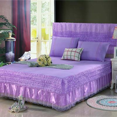 2019新款蕾丝床裙(玫瑰公主) 120*200+45cm单床裙 玫瑰公主(紫色)
