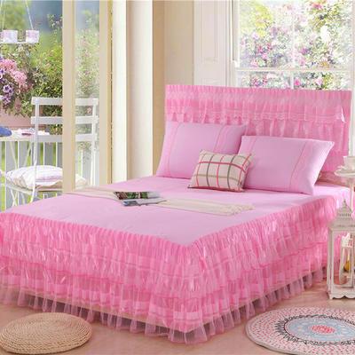 2019新款蕾丝床裙-美满家园 120*200+45cm单床裙 美满家园-粉色