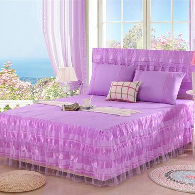 2019新款蕾丝床裙-美满家园 120*200+45cm单床裙 美满家园-紫色