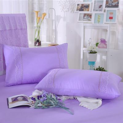 2019新款单品枕套-时尚波点 48cmX74cm 时尚波点(紫色)