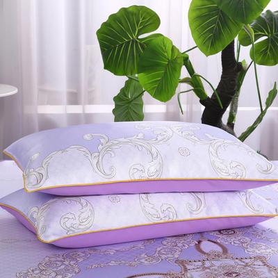 2019新款冰丝单枕套 48cmX74cm 水颜墨香-紫