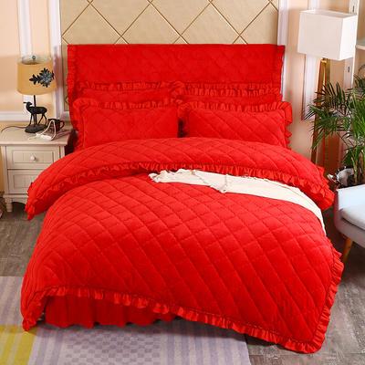 2019新款法莱绒夹棉单被套 150x200cm(3.4斤) 大红