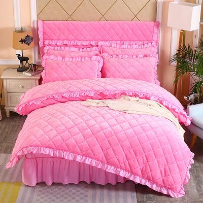 2019新款法莱绒夹棉单被套 150x200cm(3.4斤) 粉红