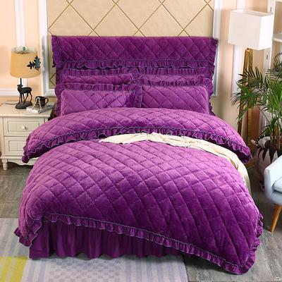 2019新款法莱绒夹棉单被套 150x200cm(3.4斤) 紫罗兰