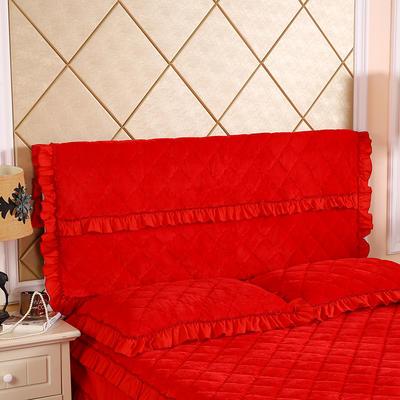 2019新款法莱绒夹棉单床头罩 120cmx55cm 大红