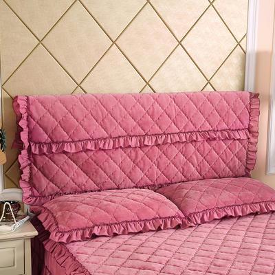 2019新款法莱绒夹棉单床头罩 120cmx55cm 豆沙
