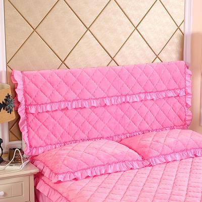 2019新款法莱绒夹棉单床头罩 120cmx55cm 粉红
