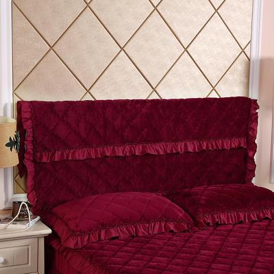 2019新款法莱绒夹棉单床头罩 120cmx55cm 酒红