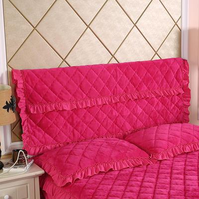 2019新款法莱绒夹棉单床头罩 120cmx55cm 玫红