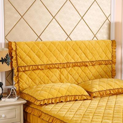 2020新款法莱绒夹棉单床头罩 150cmx55cm 柠檬黄