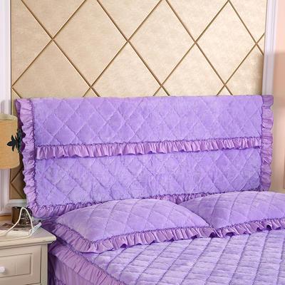 2020新款法莱绒夹棉单床头罩 150cmx55cm 浅紫
