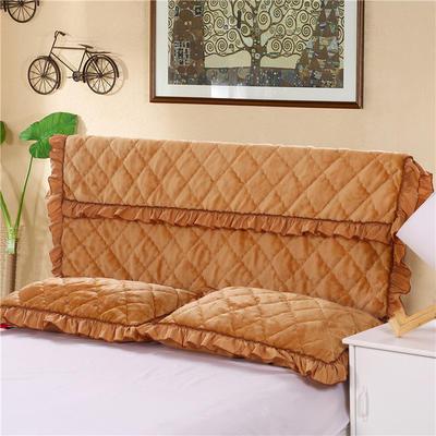2020新款法莱绒夹棉单床头罩 150cmx55cm 驼色