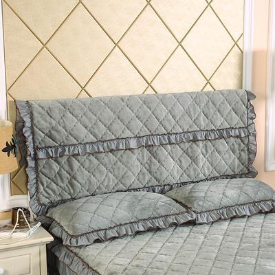 2020新款法莱绒夹棉单床头罩 150cmx55cm 银灰