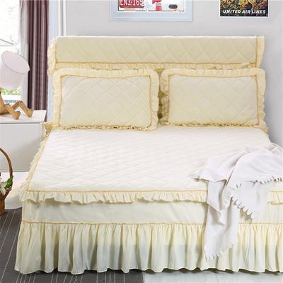 2020新款法莱绒夹棉单床裙 150*200+45cm 米黄