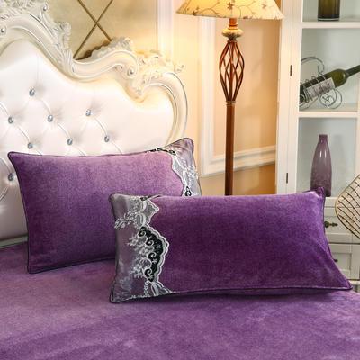 2019新款牛奶绒单品枕套 48cmX74cm 葡萄紫