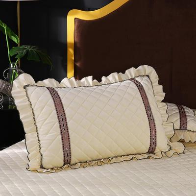 2019新款水晶绒枕头枕套(48cmX74cm/对) 48cmX74cm/对 米黄