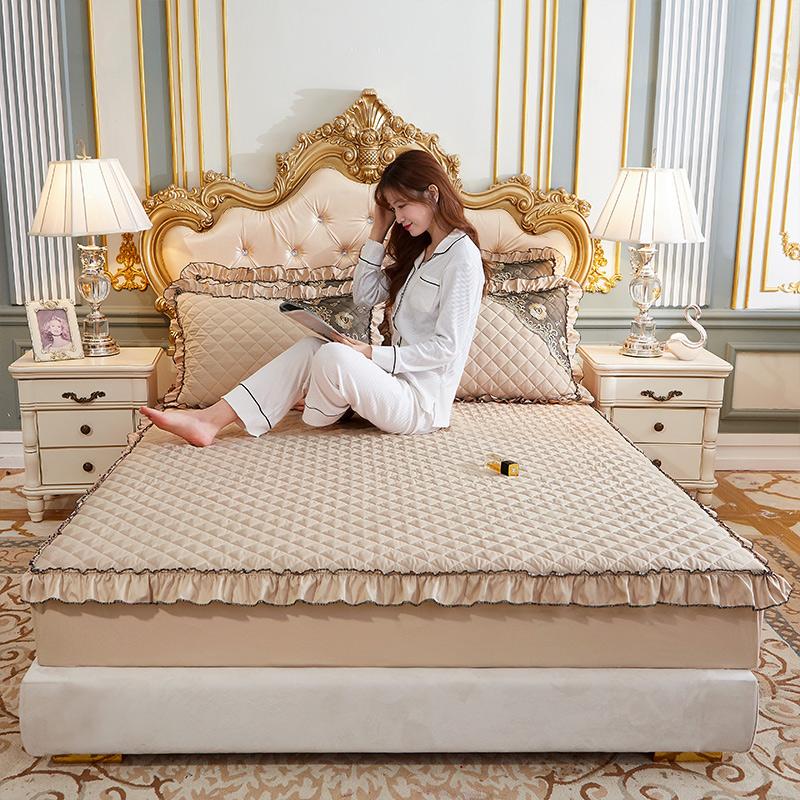 2020新款(四季款)细丝斜纹夹棉床裙系列—单品床笠