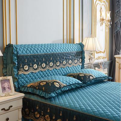 202新款(四季款)细丝斜纹夹棉床裙系列—单品全包床头罩 180x60cm 橄榄绿