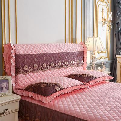 202新款(四季款)细丝斜纹夹棉床裙系列—单品全包床头罩 180x60cm 玉色