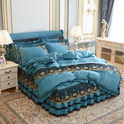 2020新款(四季款)细丝斜纹夹棉床裙系列—单品被套 220x240cm 橄榄绿