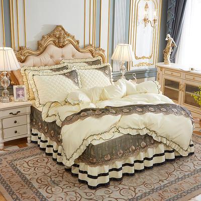 2020新款(四季款)细丝斜纹夹棉床裙系列—单品被套 200X230cm 米黄