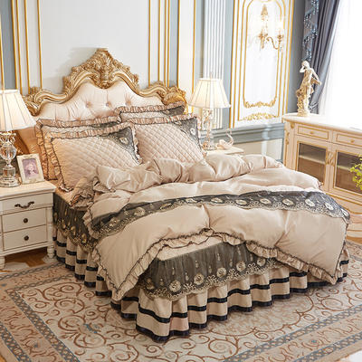 2020新款(四季款)细丝斜纹夹棉床裙系列—单品被套 220x240cm 浅驼