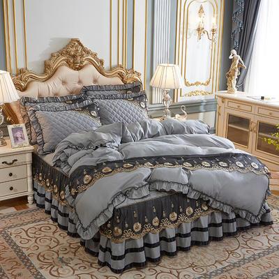 2020新款(四季款)细丝斜纹夹棉床裙系列—单品被套 200X230cm 银灰