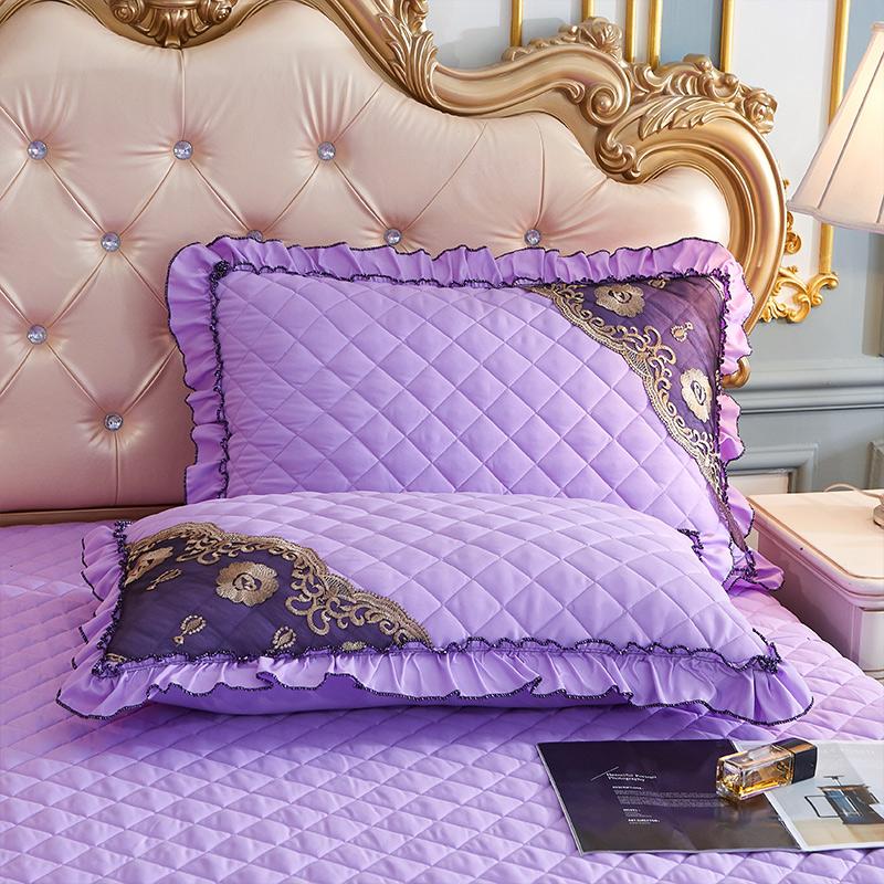 2020新款(四季款)细丝斜纹夹棉床裙系列—单品枕套