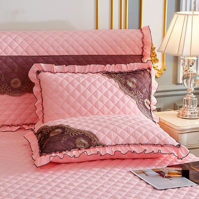 2021新款(四季款)细丝斜纹夹棉床裙系列—单品枕套 48cmX74cm 玉色