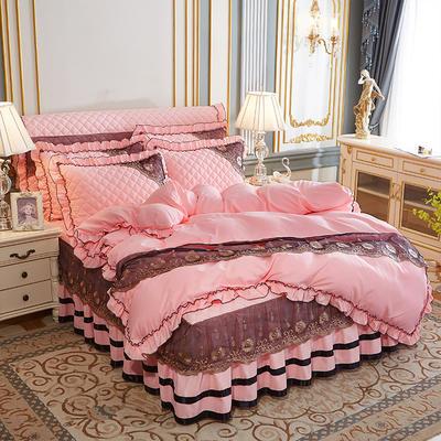 2020新款(四季款)細絲斜紋夾棉床裙系列—床裙四件套 1.5m床裙款四件套 玉色