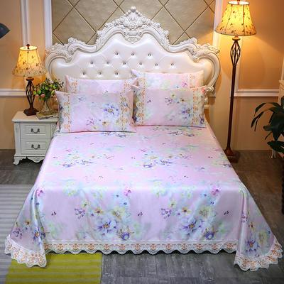 2020新款床单款冰丝凉席三件套 250*250cm 蝴蝶花