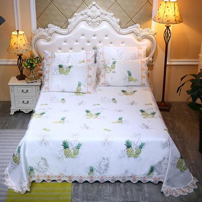 2020新款床单款冰丝凉席三件套 250*250cm 快乐菠萝