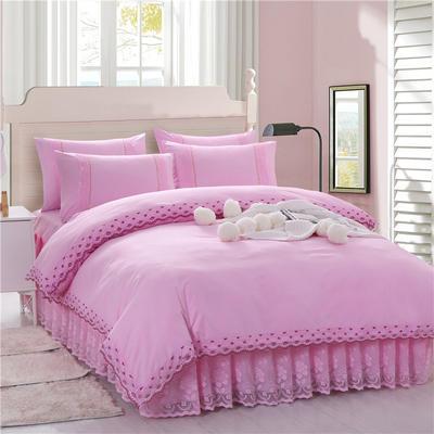 2020新款蕾丝床裙系列—被套(蕾丝床裙通用) 单品被套200x230cm 粉色