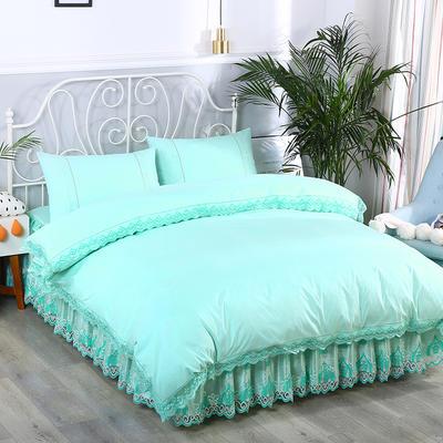 2020新款蕾丝床裙系列—被套(蕾丝床裙通用) 单品被套200x230cm 水绿