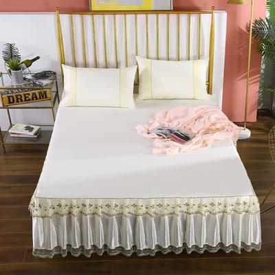 2020新款蕾丝床裙系列—蕾丝床裙(富丽) 单品床裙150*200+45cm 富丽-米黄