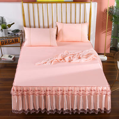2020新款蕾丝床裙系列—蕾丝床裙(富丽) 单品床裙150*200+45cm 富丽-玉色