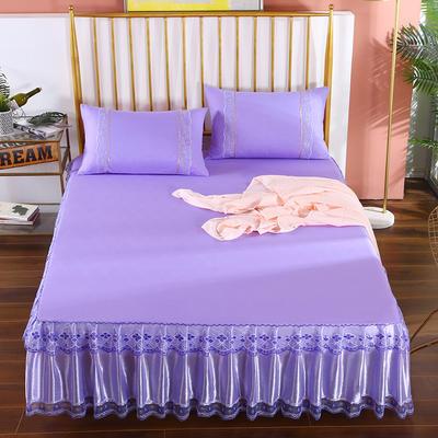 2020新款蕾丝床裙系列—蕾丝床裙(富丽) 单品床裙150*200+45cm 富丽-紫色