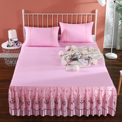 2020新款蕾丝床裙系列—蕾丝床裙(浪漫花都) 单品床裙150*200+45cm 浪漫花都(粉色)